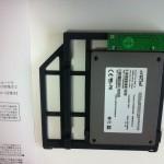 SSD取付後